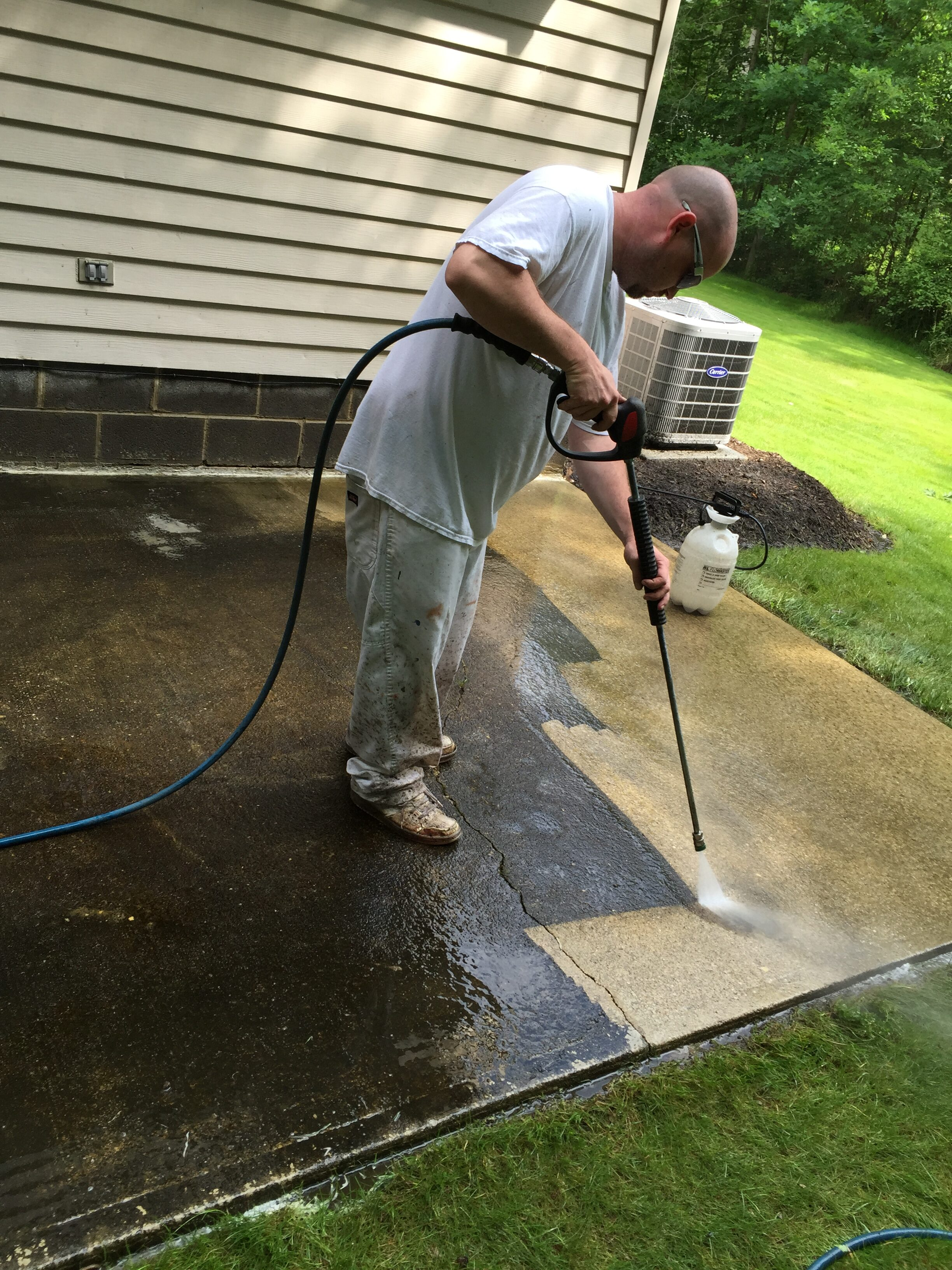 painting pros pressure washing patio