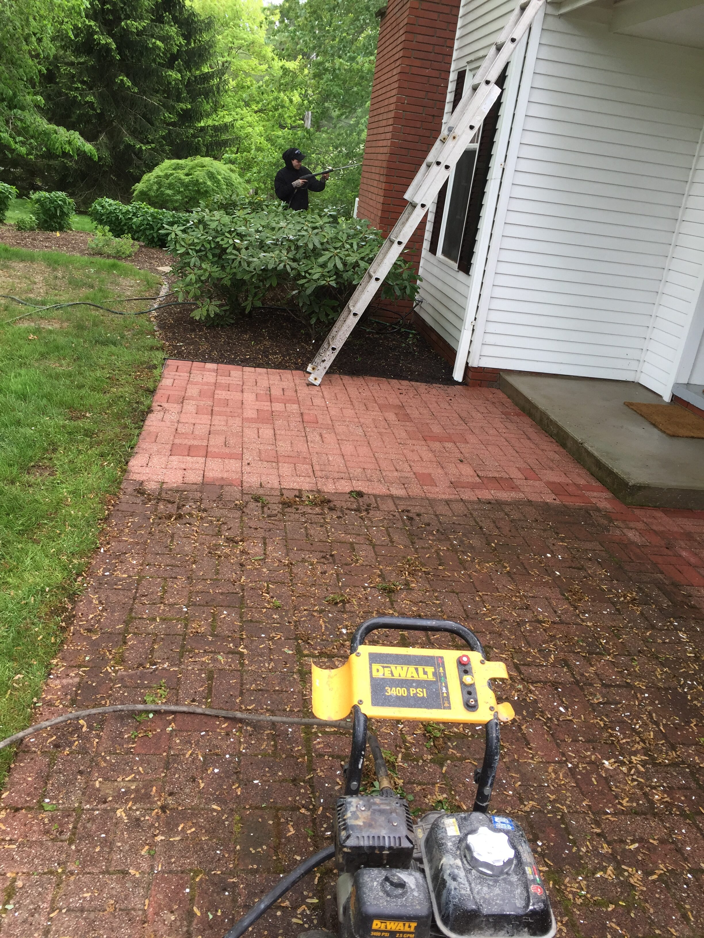 give your home a shiny new look with a pressure washed stone